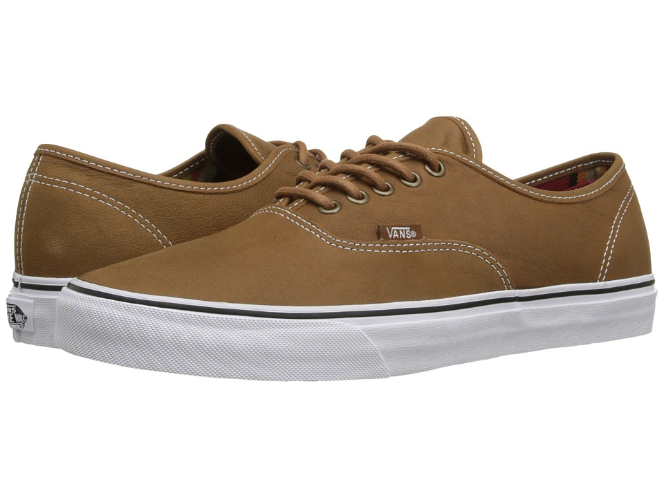 Vans - Authentic ((Leather) Brown/Guate) Skate Shoes