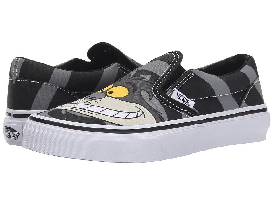 Vans Kids - Classic Slip-On (Little Kid/Big Kid) ((Disney) Chesire Cat/Black) Boys Shoes