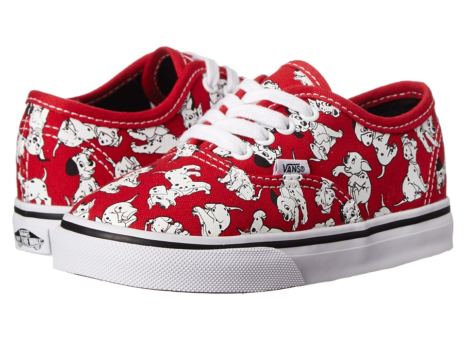 Vans Kids - Disney Authentic (Toddler) ((Disney) Dalmatians/Red) Kids Shoes