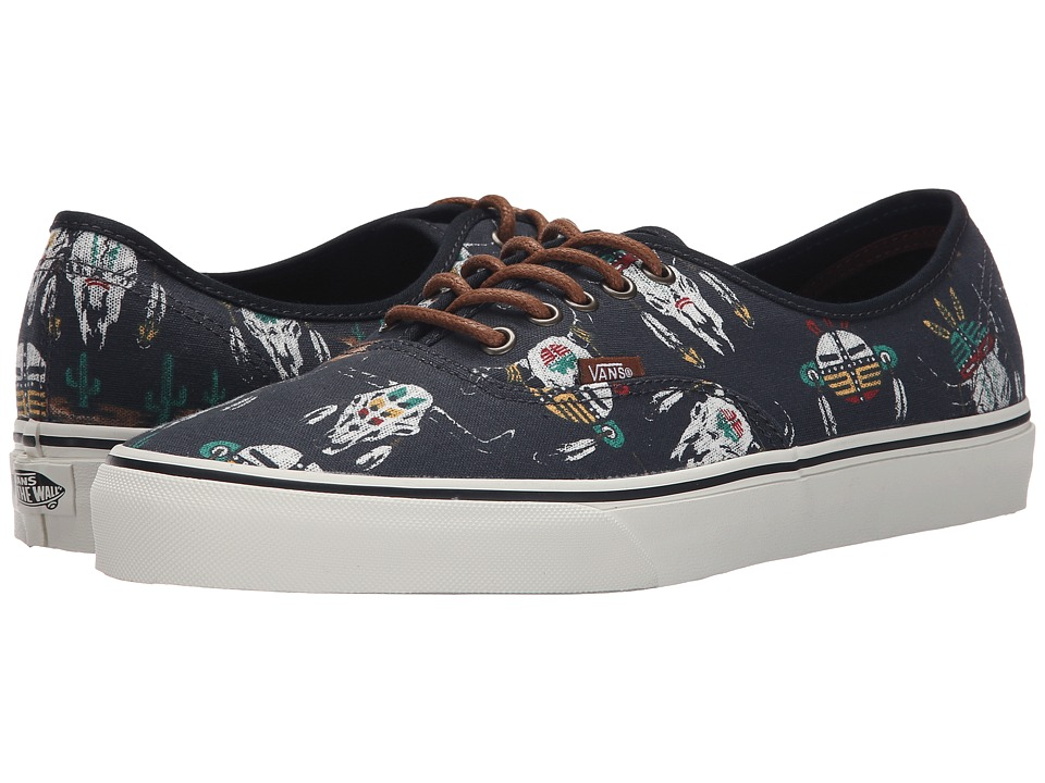Vans - Authentic ((Desert Tribe) Blue Graphite) Skate Shoes