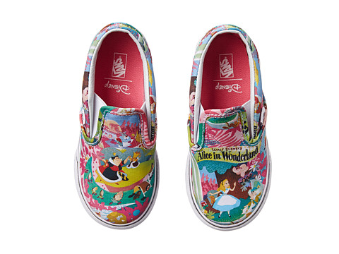 Vans Kids - Disney Classic Slip-On (Toddler) ((Disney) Wonderland/Pink) Girls Shoes