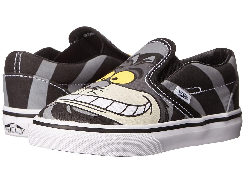 Vans Kids - Classic Slip-On (Toddler) ((Disney) Chesire Cat/Black) Boys Shoes