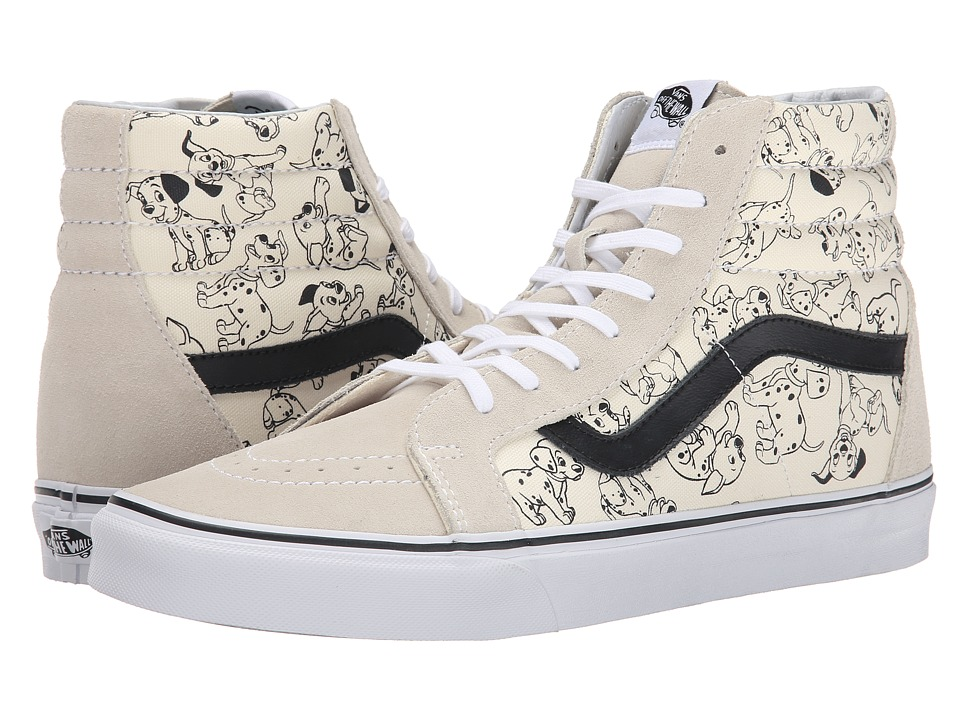 Vans - Disney SK8-Hi Reissue ((Disney) Dalmatians/White) Skate Shoes