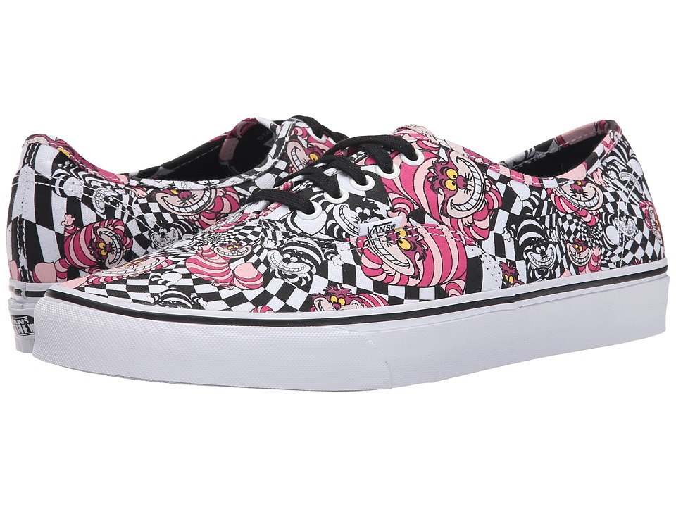 Vans - Disney Authentic ((Disney) Cheshire Cat/Black) Skate Shoes