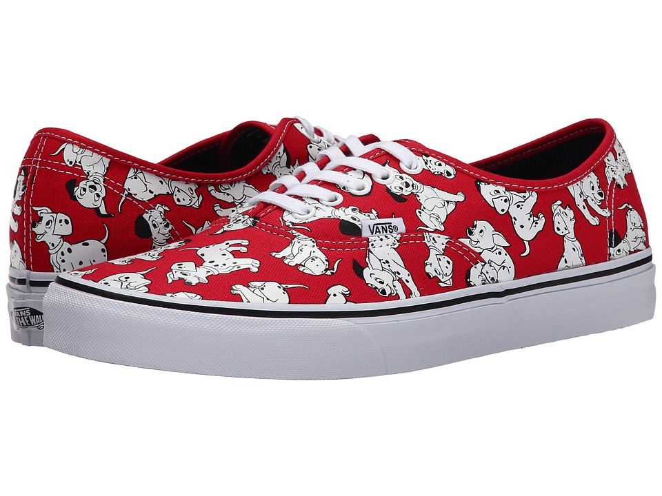 Vans - Disney Authentic ((Disney) Dalmatians/Red) Skate Shoes