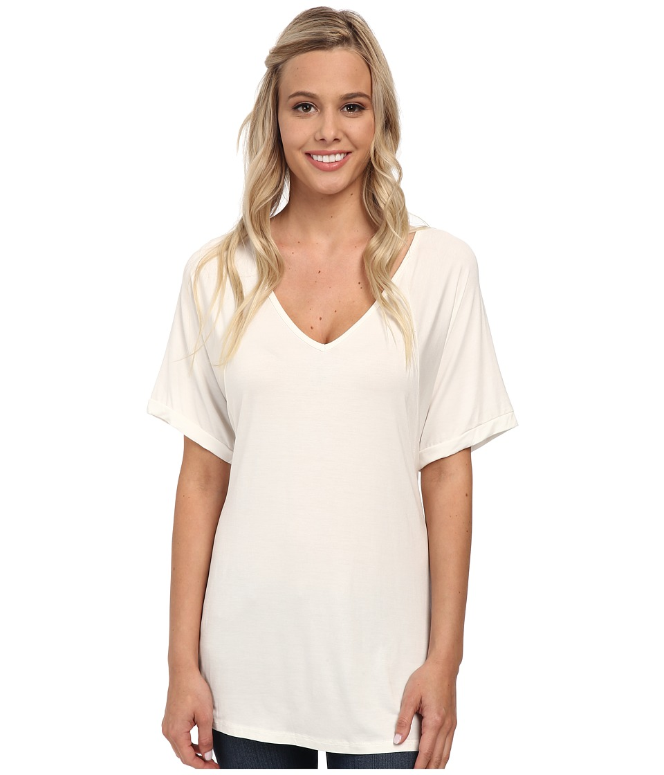 Culture Phit - Viola Modal Short Sleeve Top (Ivory) Women's Clothing