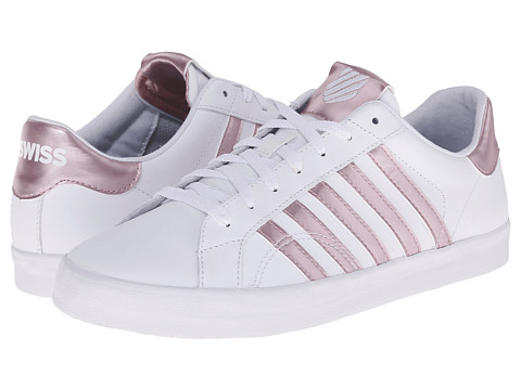 K-Swiss - Belmont So (White/Silver Pink) Women's Shoes