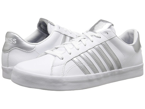 K-Swiss - Belmont So (White/Silver) Women's Shoes