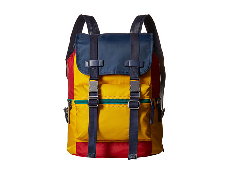 Dolce & Gabbana - Nylon/Leather Backpack (Little Kids/Big Kids) (Yellow/Blue/Red) Backpack Bags
