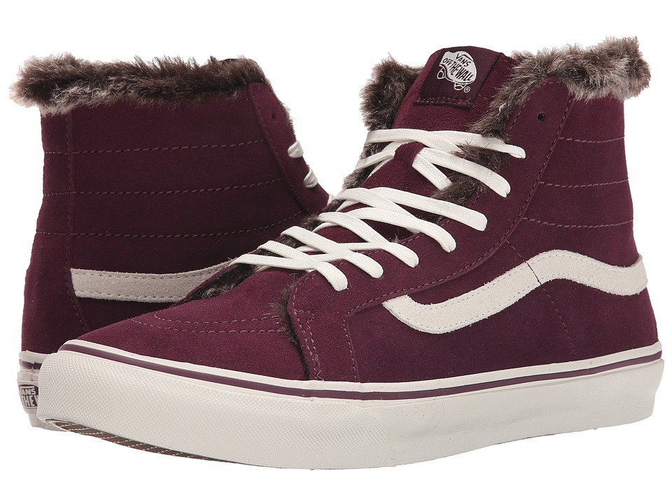 Vans - SK8-Hi Slim ((Fur Lining) Fig/Marshmallow) Skate Shoes