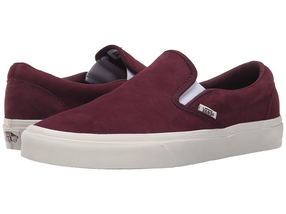 Vans - Classic Slip-On ((Scotchgard) Fig/Blanc de Blanc) Skate Shoes