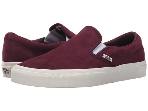 Vans - Classic Slip-On ((Scotchgard) Fig/Blanc de Blanc) Skate Shoes