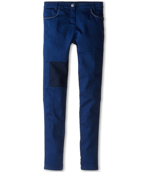 Little Marc Jacobs - Slim Fit Patched Denim Pants (Big Kids) (Denim Blue) Girl's Jeans