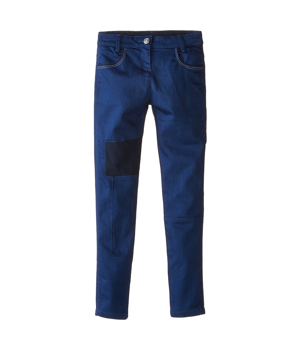 Little Marc Jacobs - Slim Fit Patched Denim Pants (Little Kids/Big Kids) (Denim Blue) Girl's Jeans