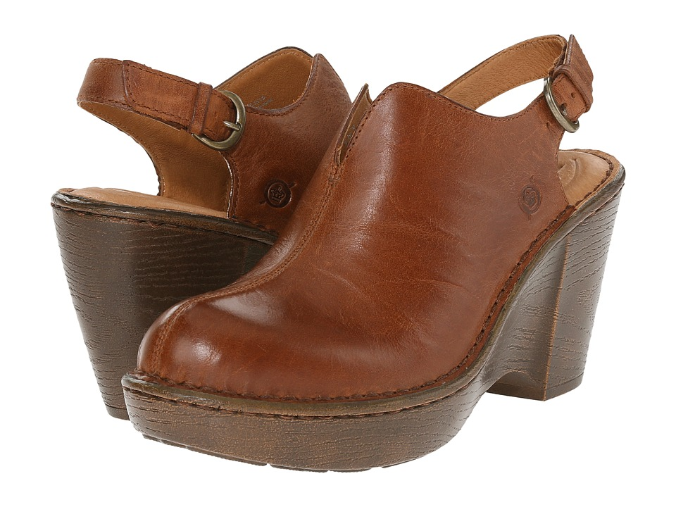 Born - Flowers (Tan Full Grain Leather) Women's Shoes