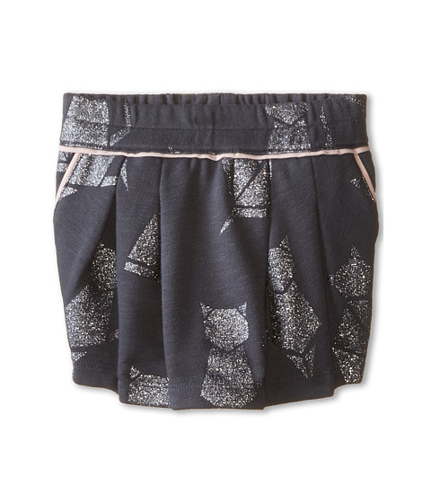 Little Marc Jacobs - Cat Foil Print Fleece Skirt (Toddler/Little Kids) (Andoise) Girl's Skirt