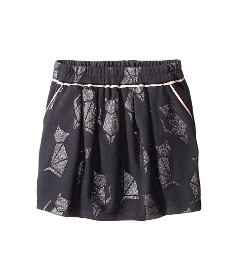 Little Marc Jacobs - Cat Foil Print Fleece Skirt (Big Kids) (Andoise) Girl's Skirt