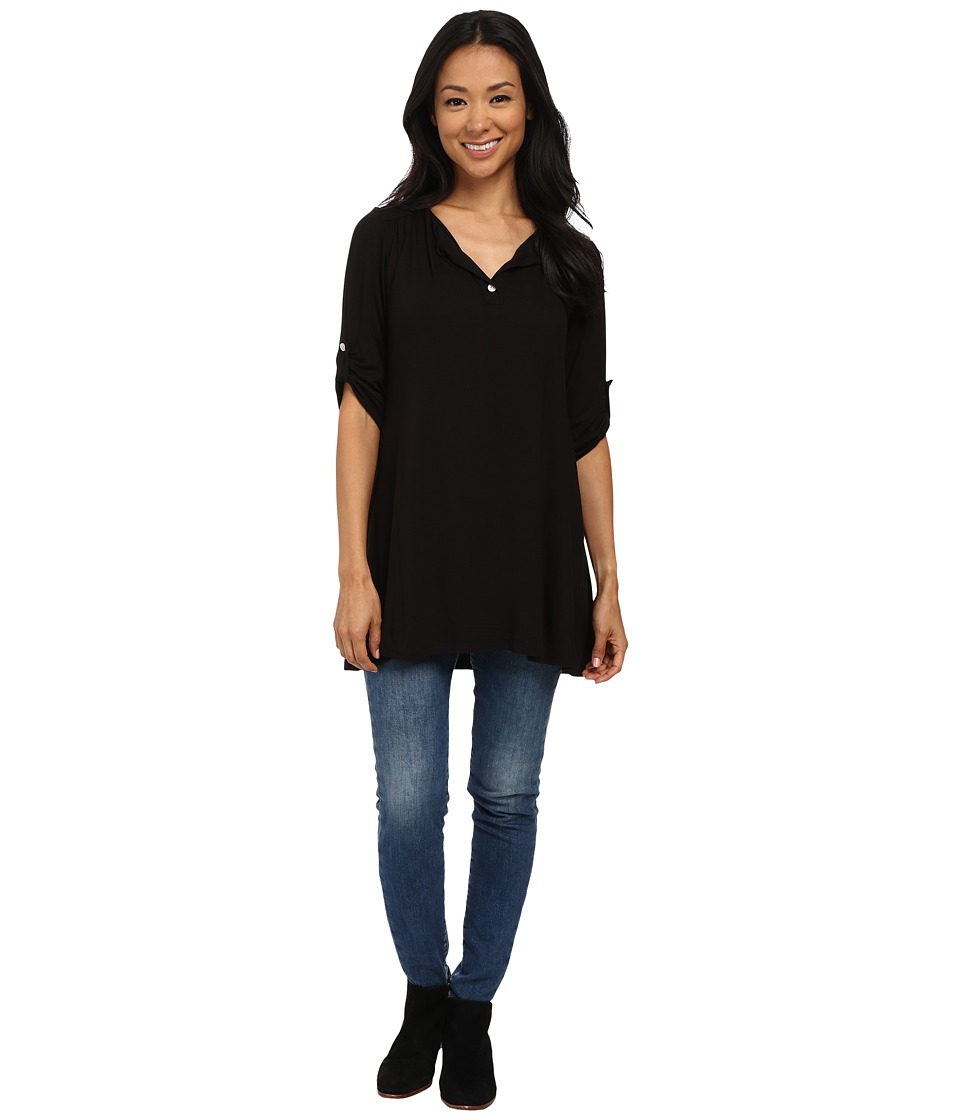 Lucy Love - Swing Tunic (Black) Women's Blouse
