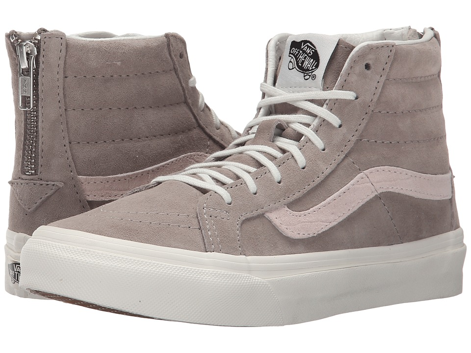 SK8-Hi Slim Zip ((Croc Emboss) Hemp/Blanc de Blanc) Skate Shoes