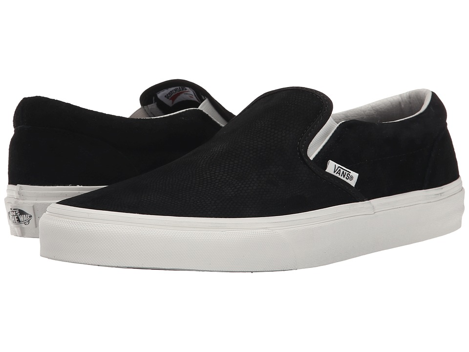 Vans - Classic Slip-On ((Lizard Emboss) Black/Blanc de Blanc) Skate Shoes