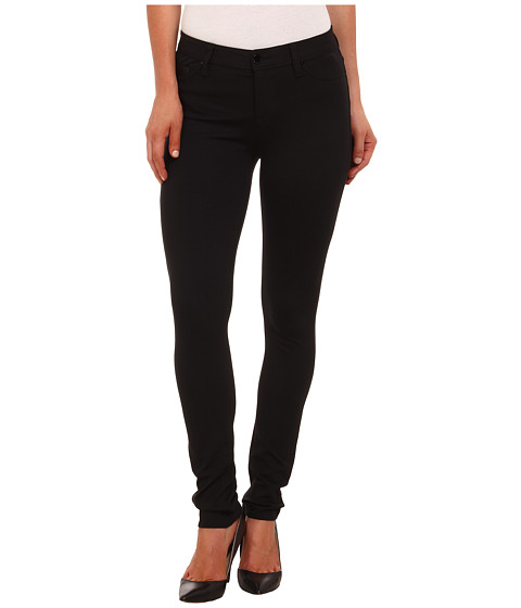 Calvin Klein Jeans - Ponte Five-Pocket with PU Coin Pocket (Black) Women