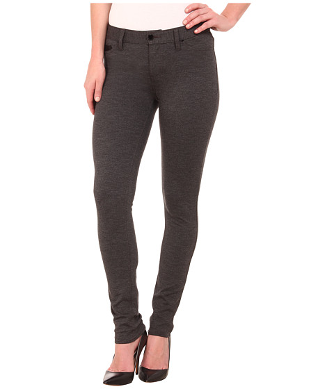 Calvin Klein Jeans - Ponte Five-Pocket with PU Coin Pocket (Charcoal Grey Heather) Women's Casual Pants