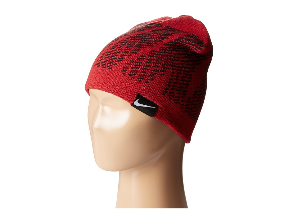 Nike Kids - Reversible Jacquard Beanie (Big Kids) (Gym Red) Beanies