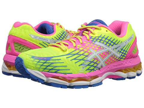 ASICS - GEL-Nimbus 17 (Flash Yellow/White/Flash Pink) Women's Running Shoes