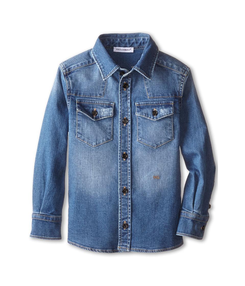 Dolce & Gabbana - Denim Western Shirt (Toddler/Little Kids) (Blue/Denim) Men's Clothing