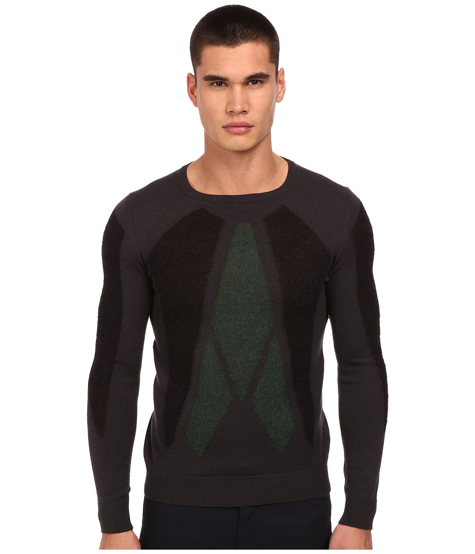 CoSTUME NATIONAL - Knitted Sweater (Grigio) Men's Sweater
