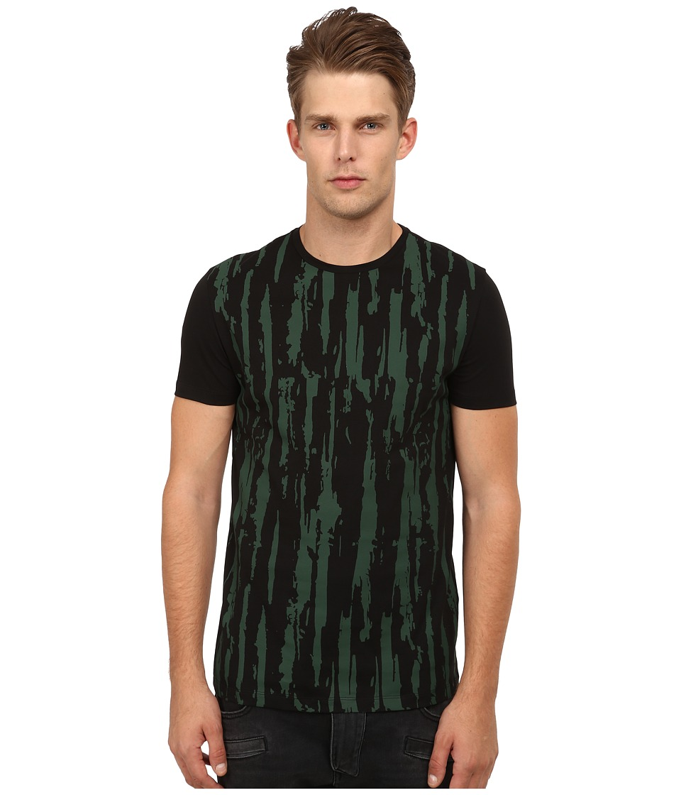 CoSTUME NATIONAL - Front Distress Shirt (Nero) Men's T Shirt