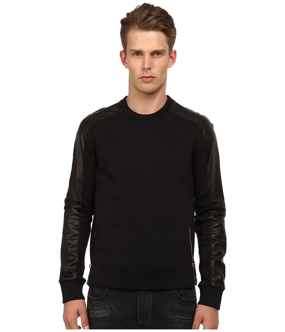 CoSTUME NATIONAL - Color Block Shirt with Zippers (Nero) Men's T Shirt