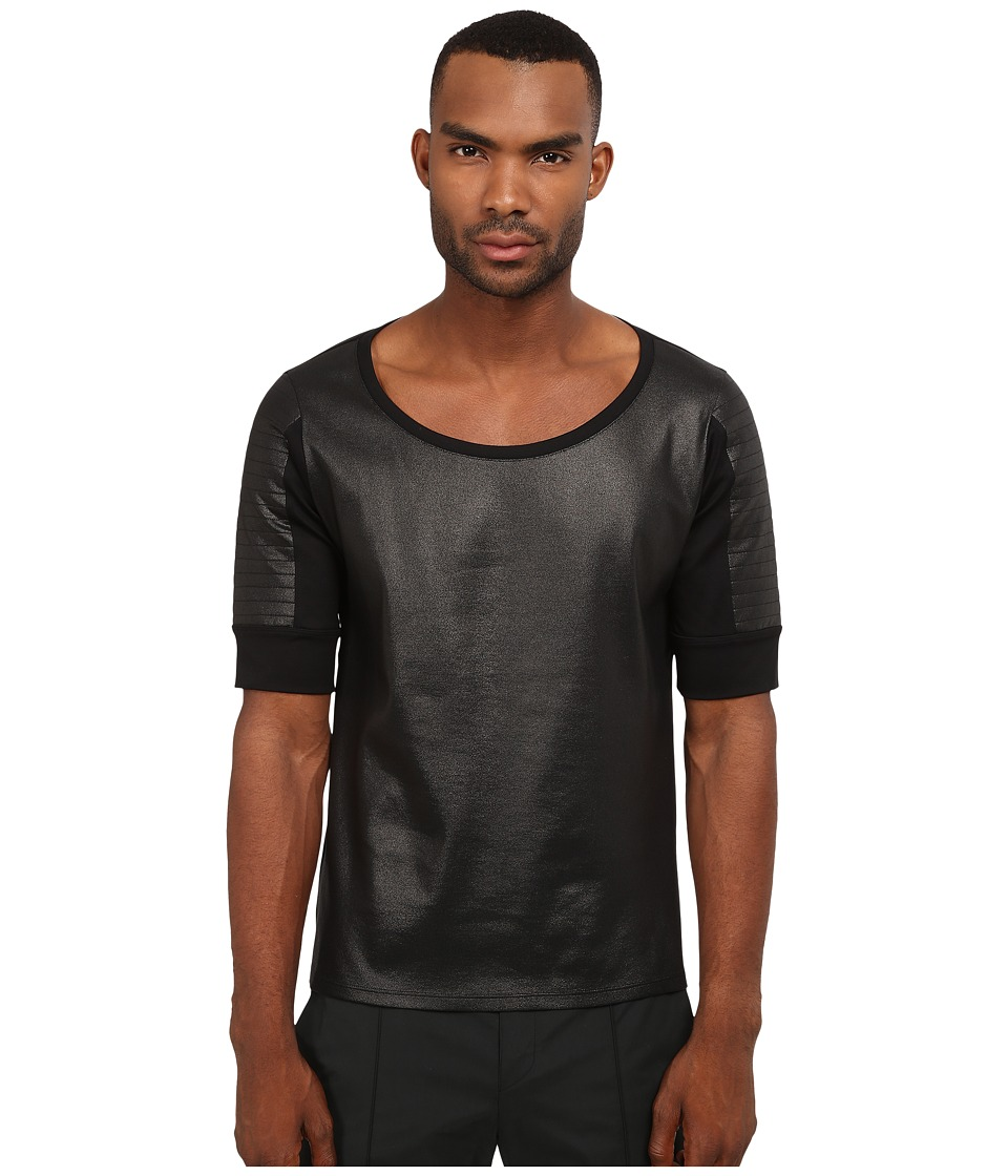 CoSTUME NATIONAL - Accented Arms Shirt (Nero) Men's T Shirt