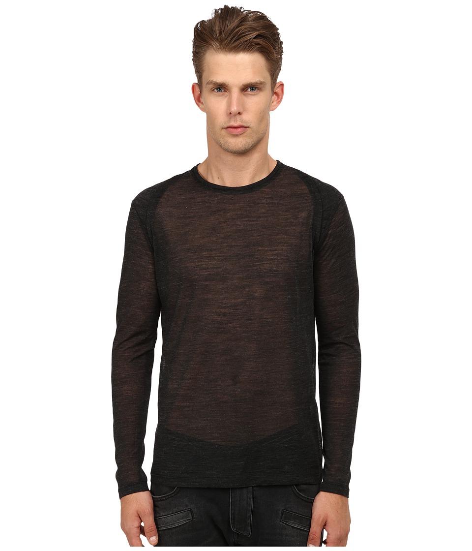CoSTUME NATIONAL - Motor Panel Shoulders Shirt (Grigio Scuro) Men's T Shirt