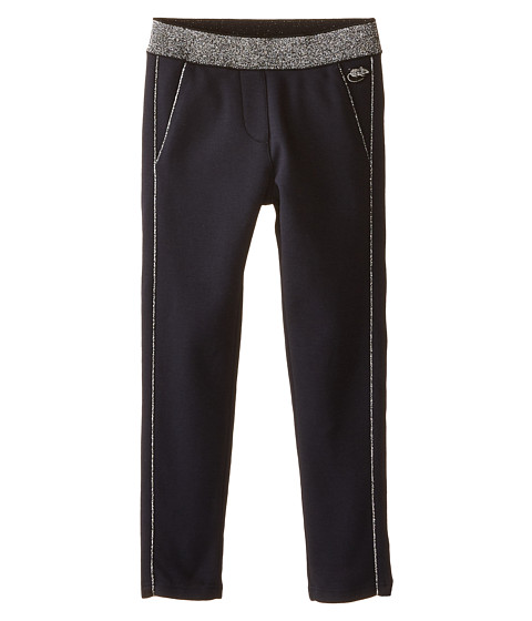 Little Marc Jacobs - Milano Fabric Pants with Gold Piping (Toddler/Little Kids) (Dark Obsidian) Girl