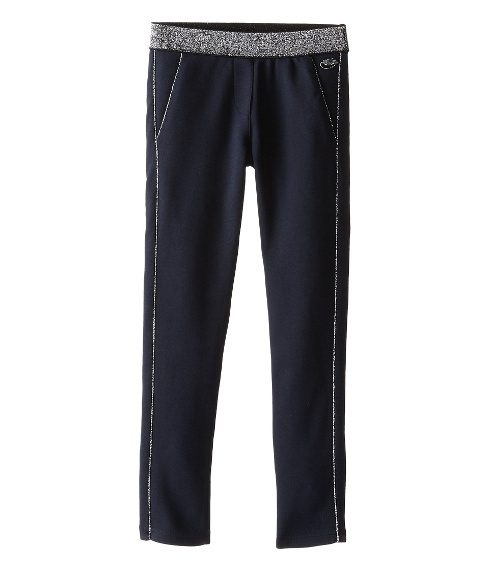 Little Marc Jacobs - Milano Fabric Pants with Gold Piping (Little Kids/Big Kids) (Dark Obsidian) Girl