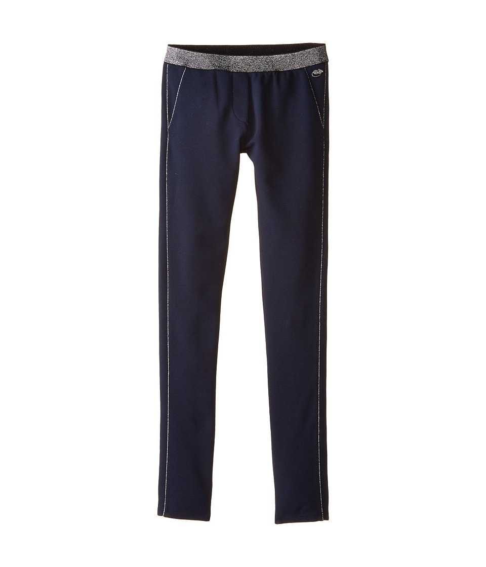 Little Marc Jacobs - Milano Fabric Pants with Gold Piping (Big Kids) (Dark Obsidian) Girl