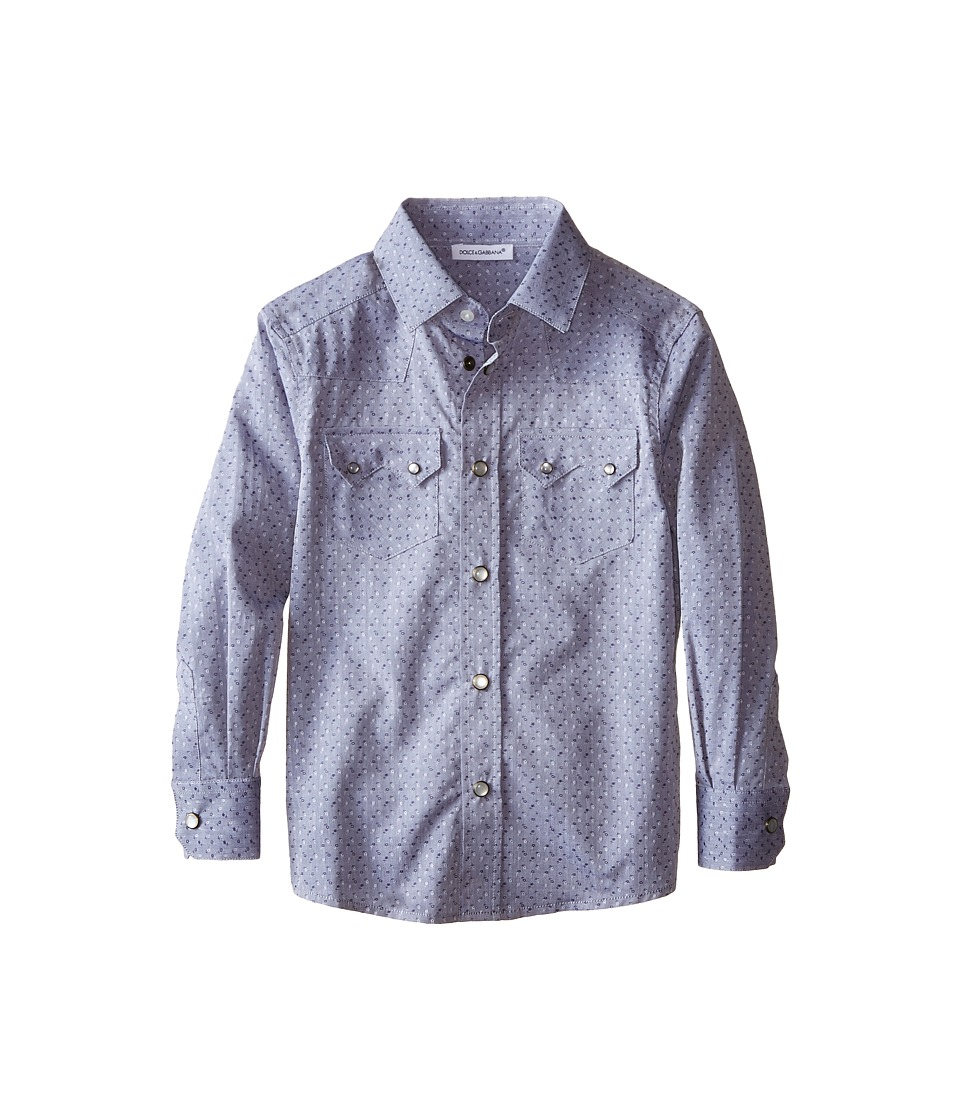 Dolce & Gabbana Kids - Jacquard Western Shirt (Toddler/Little Kids) (Grey/Jacquard) Boy's Clothing