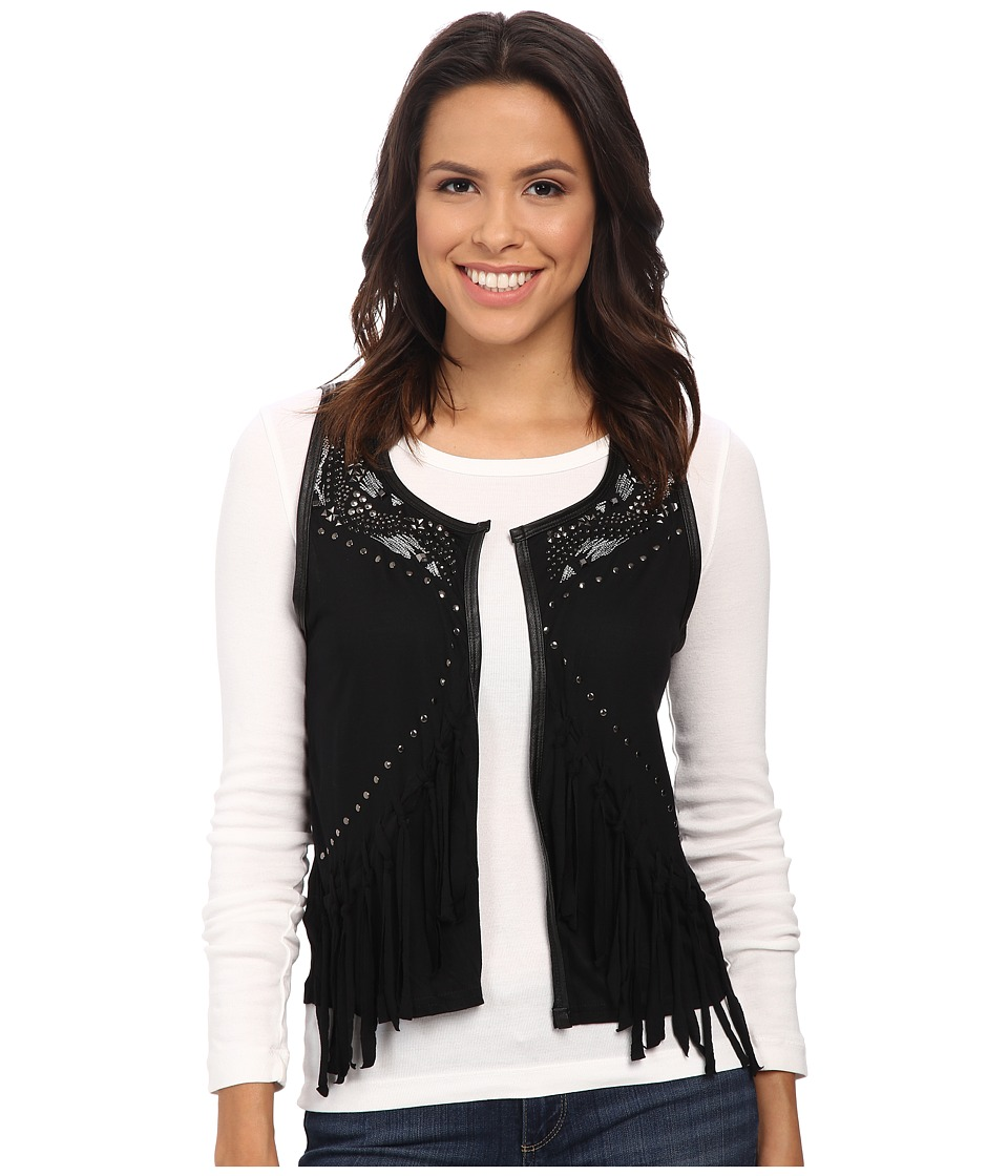 Rock and Roll Cowgirl - Vest 49V4659 (Black) Women's Vest
