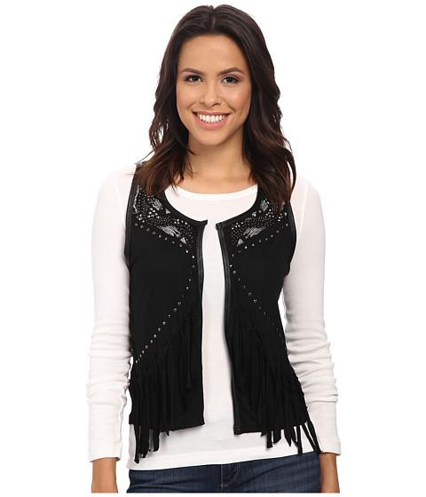 Rock and Roll Cowgirl - Vest 49V4659 (Black) Women's Vest