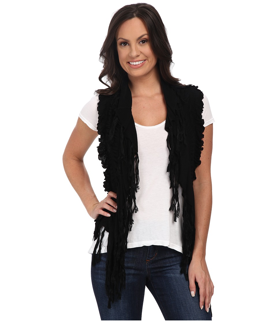Rock and Roll Cowgirl - Vest 49V4657 (Black) Women's Vest