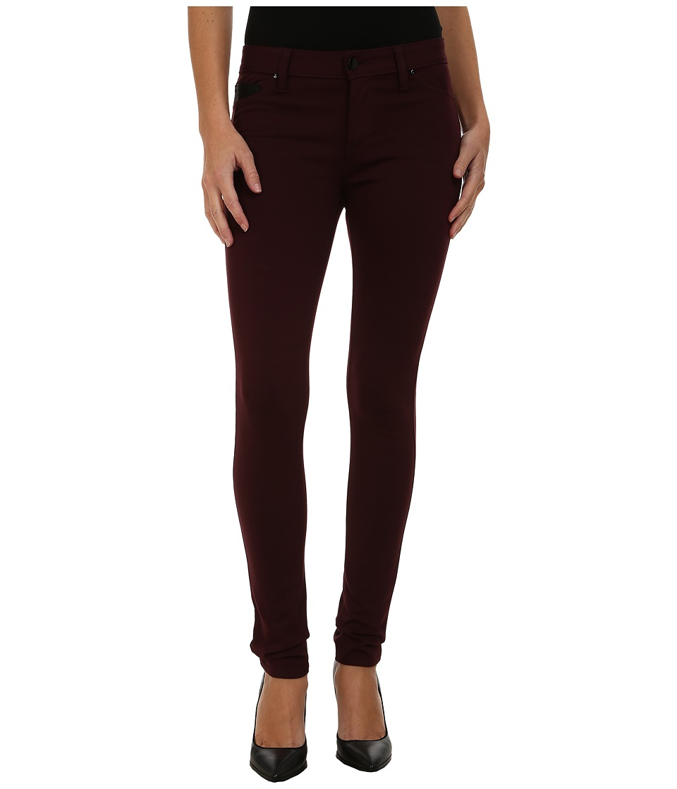 Calvin Klein Jeans - Ponte Five-Pocket with PU Coin Pocket (Cranberry) Women