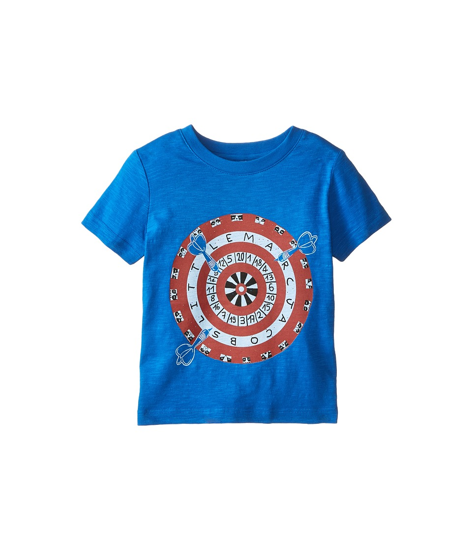 Little Marc Jacobs - Short Sleeve Dart Print T-Shirt (Toddler/Little Kids) (Blue Marc) Boy's T Shirt