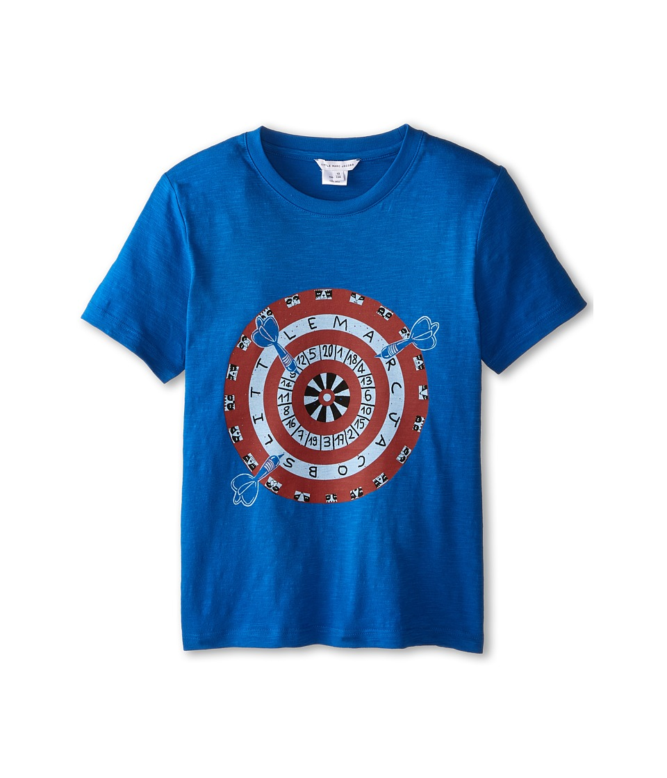 Little Marc Jacobs - Short Sleeve Dart Print T-Shirt (Big Kids) (Blue Marc) Boy