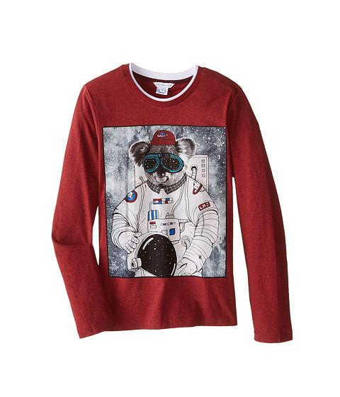 Little Marc Jacobs - Long Sleeve Koala Space Suit T-Shirt (Big Kids) (Rouge) Boy's T Shirt