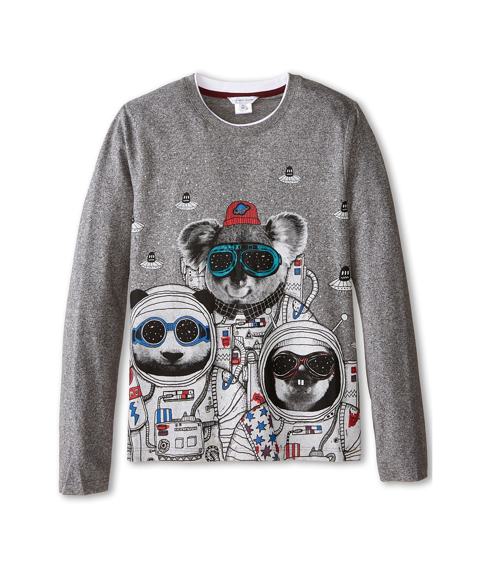 Little Marc Jacobs - Long Sleeve Koala Space Suit T-Shirt (Big Kids) (Grey) Boy's T Shirt