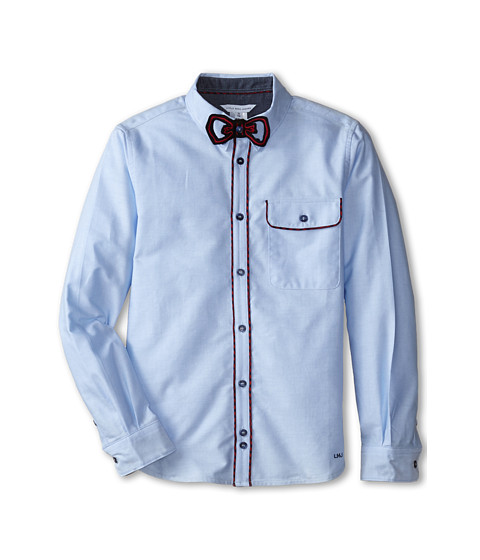 Little Marc Jacobs - Shirt with Removable Bow Tie (Big Kids) (Bleach) Boy's Long Sleeve Button Up