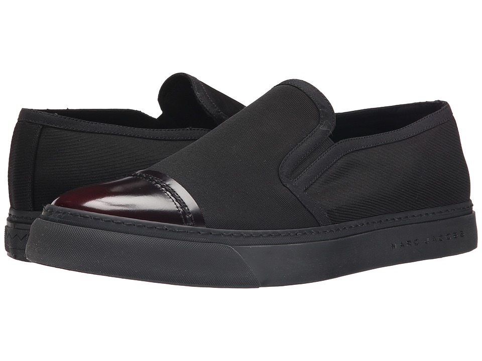 Marc Jacobs - Cap Toe Slip-On Sneaker (Black) Men's Shoes