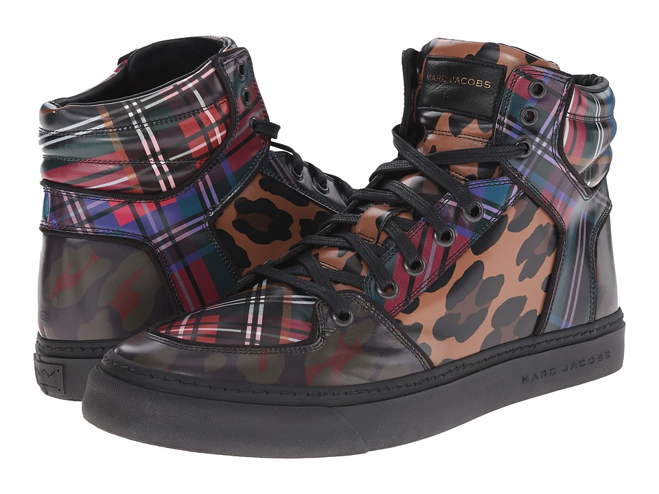 Marc Jacobs - Multi Print Hi-Top Sneaker (Multi Print) Men's Lace up casual Shoes