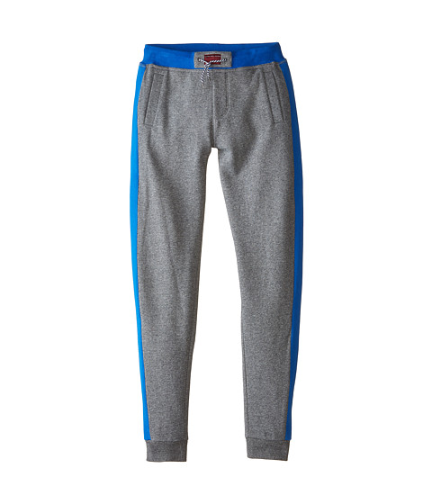 Little Marc Jacobs - Banded Bottom Bicolored Sweatpants (Little Kids/Big Kids) (Grey Blue) Boy's Casual Pants